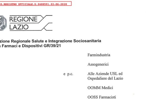 Regione Lazio non segue le linee guida. Attività ISF nelle strutture solo per via telematica fino al 30 giugno