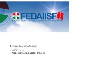 Lecce. Lettera alle autorità sanitarie. Richiesta tavolo per condividere la riattivazione attività ISF