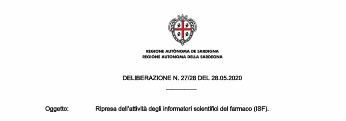 Sardegna. Delibera Giunta Regionale attività ISF: di persona con MMG e PLS secondo linee guida, da remoto nelle strutture