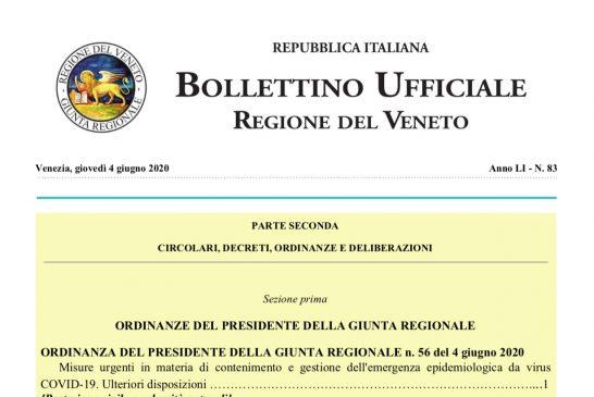 Veneto. Ordinanza autorizza attività ISF anche in deroga alle disposizioni limitative