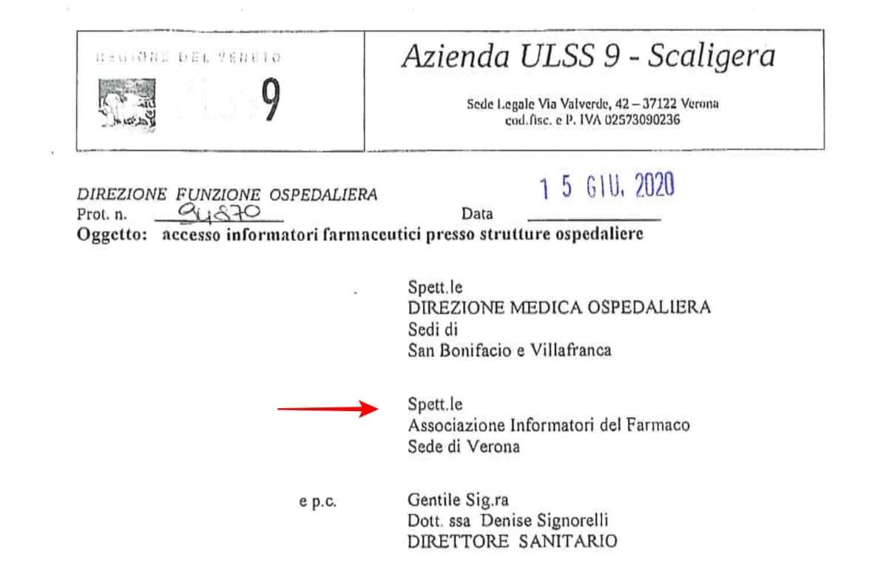 Verona. L'AULSS 9 scrive a AIISF: l'accesso degli ISF consentito su appuntamento