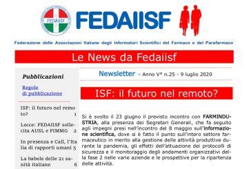 In distribuzione agli associati la News Letter Fedaiisf n. 25 del 9 luglio 2020