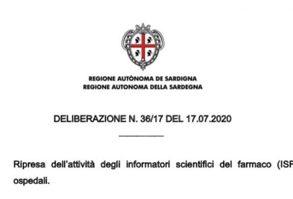 Regione Sardegna. Ripresa attività ISF secondo linee guida