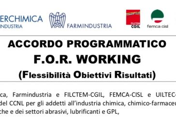 Comunicato Sindacati Farmindustria. Rendere disponibile il F.O.R. WORKING, modalità evoluta di Smart Working