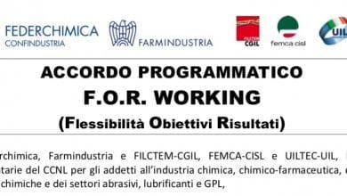 Comunicato OOSS Farmindustria su FOR Working titolo