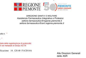 Regione Piemonte. Ripresa attività ISF: Privilegiare gli incontri a distanza e limitare gli accessi diretti.
