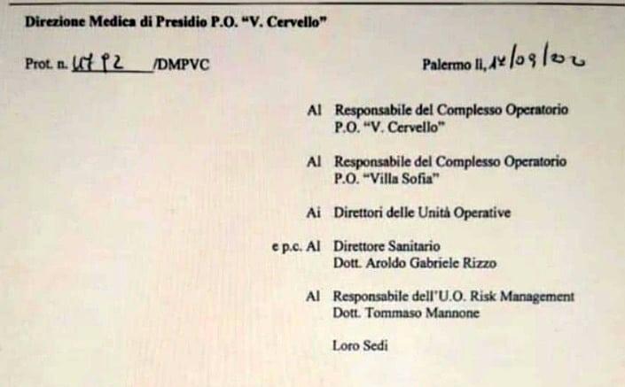 """Palermo. Vietato l'accesso ISF all'ospedale """"Cervello"""""""