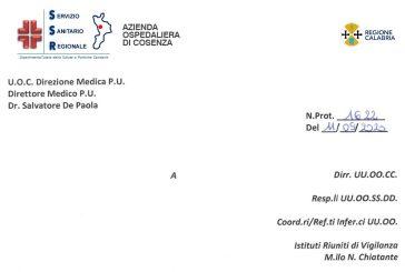 Ospedale Annunziata Cosenza. Nuove disposizioni per ISF. Indirizzata a tutti, tranne agli interessati !