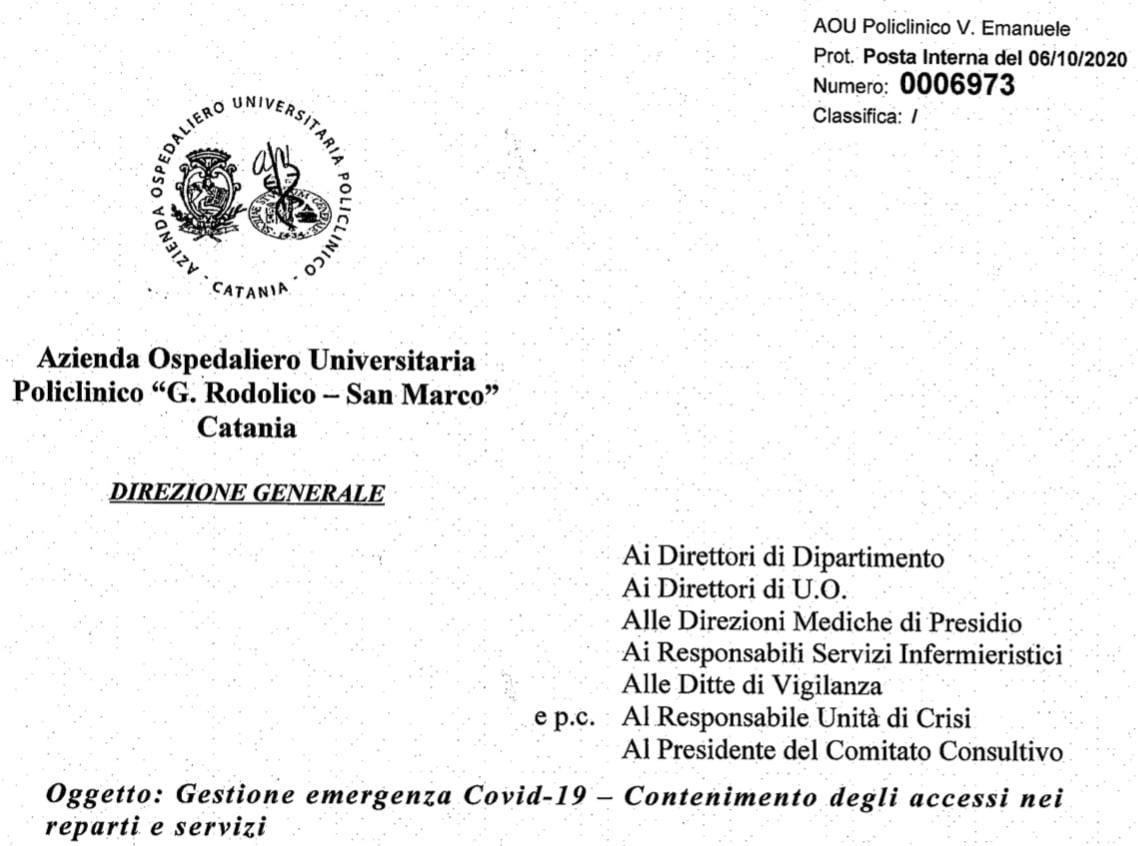 Catania Policlinico. Sospesa attività ISF