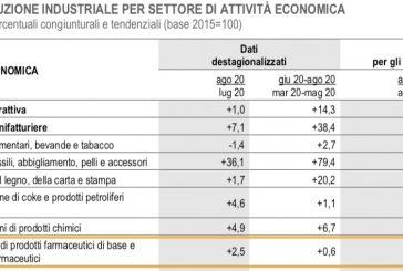 ISTAT. Ad agosto produzione industriale prodotti farmaceutici +2,8