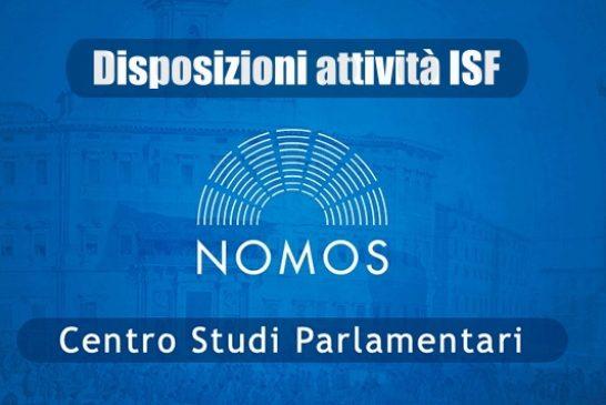 NOMOS. Attività ISF: disposizioni regionali aggiornate al 23 novembre 2020