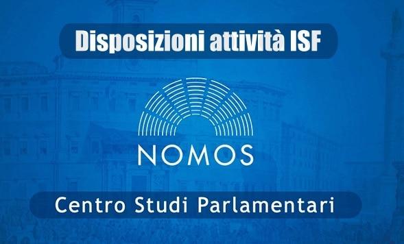 Nomos. Aggiornamento al 13 novembre 2020 delle Disposizioni regionali sull'attività degli ISF