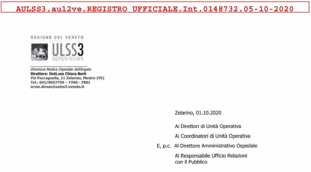Veneto Ospedale ULSS3: accesso ISF in via eccezionale previo appuntamento