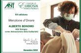 Bologna. Premio ANT ad Alberto Bonomo in rappresentanza della Sez. AIISF