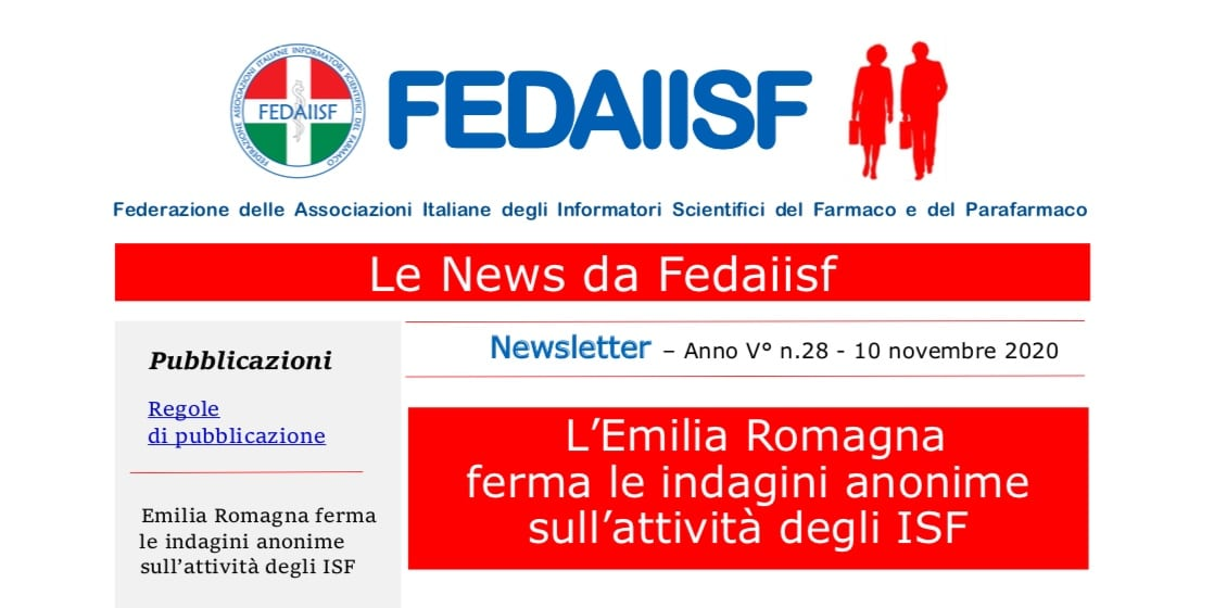 Newsletter Fedaiisf n. 28 e la Newsletter speciale n. 27 in distribuzione agli iscritti